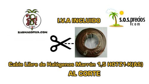 Por Metros Cable Libre de Halógenos Marrón 1,5 H07Z1-K(AS)