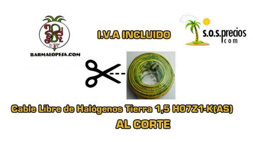 Cable Libre de Halógenos al corte tierra 1,5 H07Z1-K(AS)